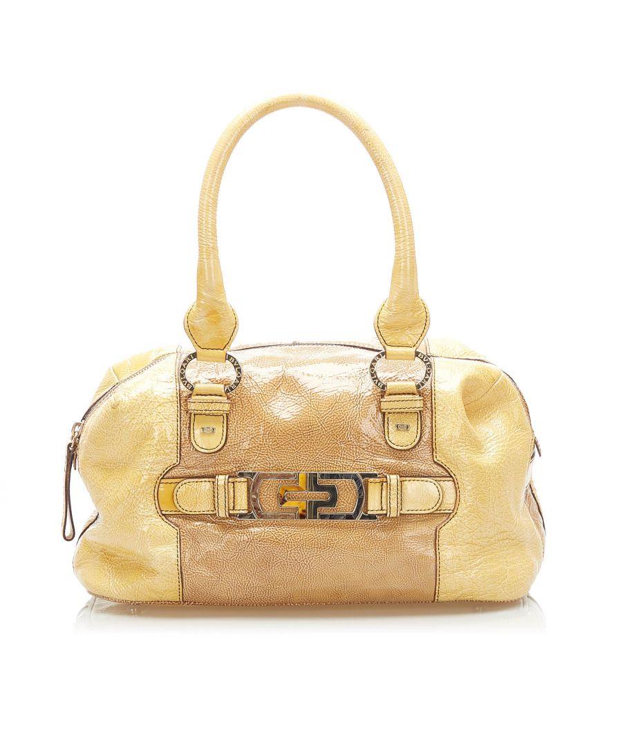 Image for Vintage Bvlgari Leather Handbag Brown