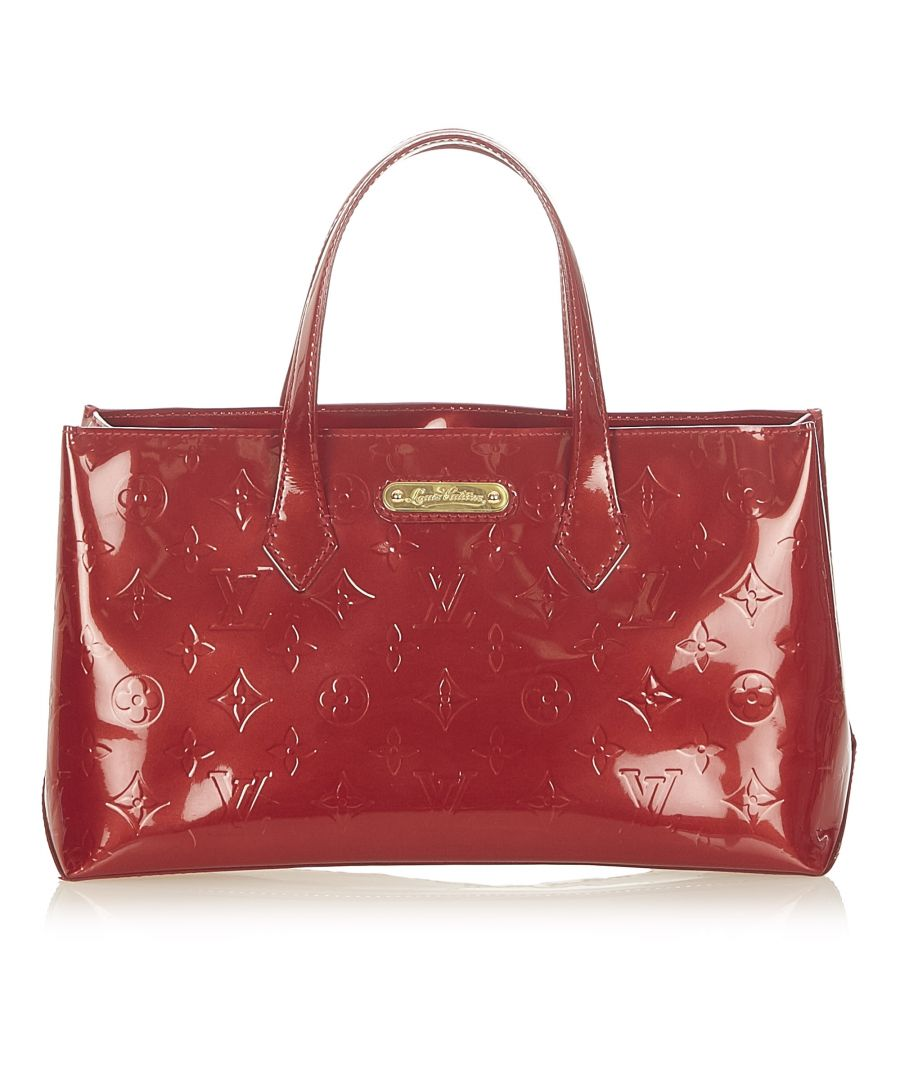 Image for Vintage Louis Vuitton Vernis Wilshire PM Red