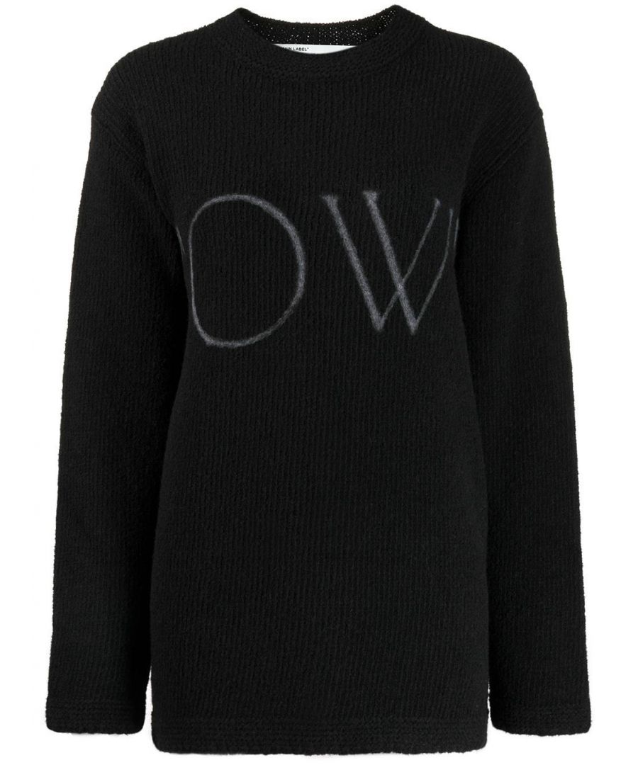 Image for OFF-WHITE WOMEN'S OWHE020F19F980911001 BLACK WOOL SWEATER