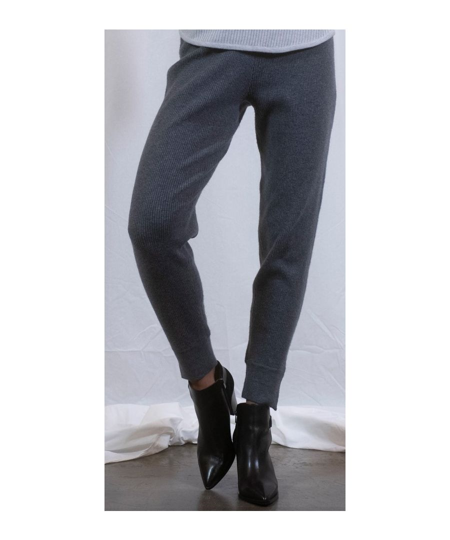 Image for Grey Ribbed Mixed Blend Jogger With Zip