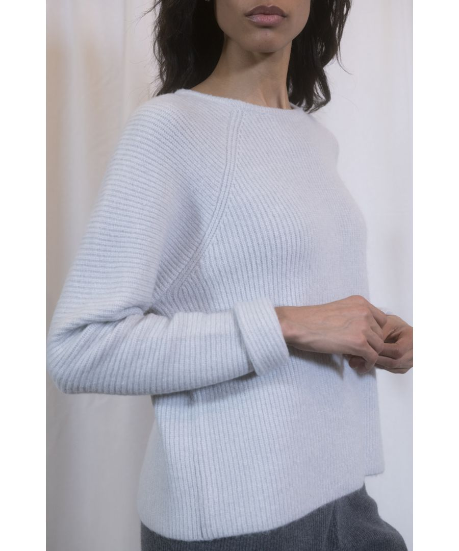 Image for Blue Mixed Blend Chunky Knit