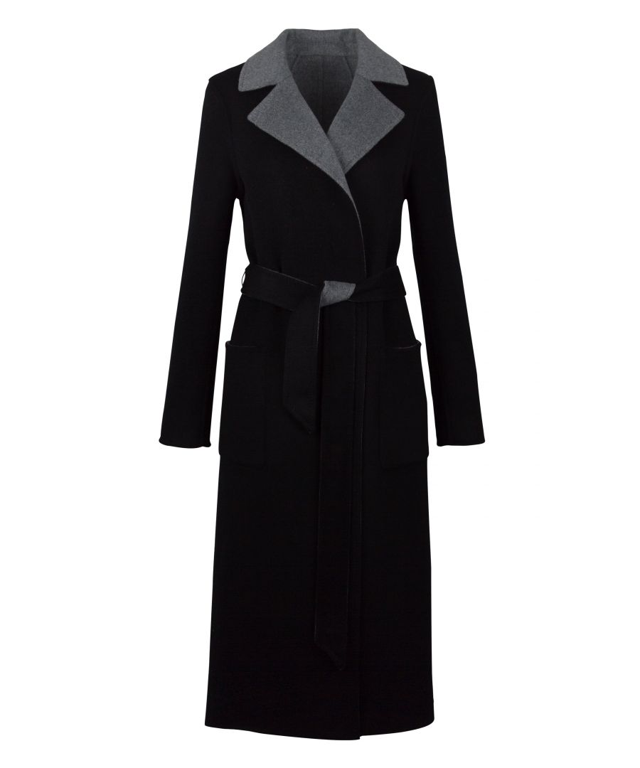 Image for Cashmere Reversible Coat In Black