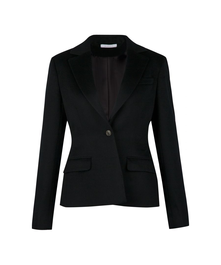 Image for 100% Cashmere Blazer In Black