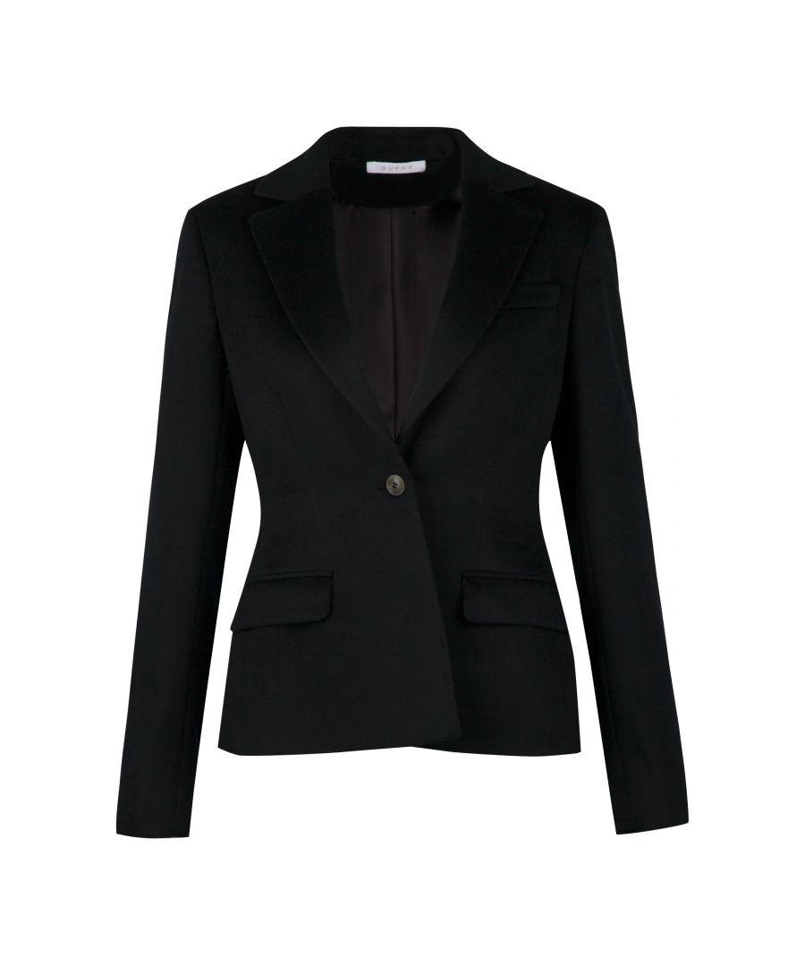 Image for 100% Cashmere Blazer In Black