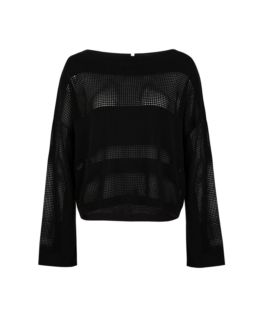 Image for Black Mesh Leisure Lightweight Top
