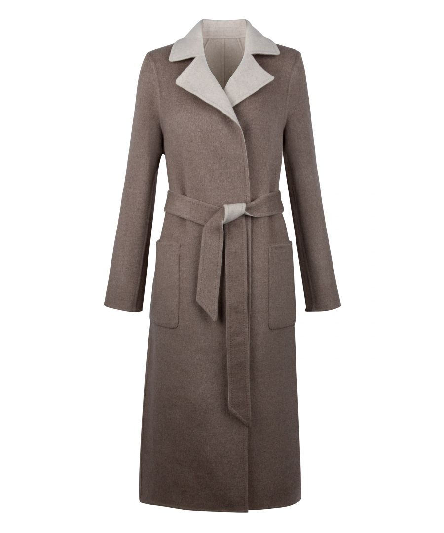 Image for Cashmere Reversible Coat In Beige