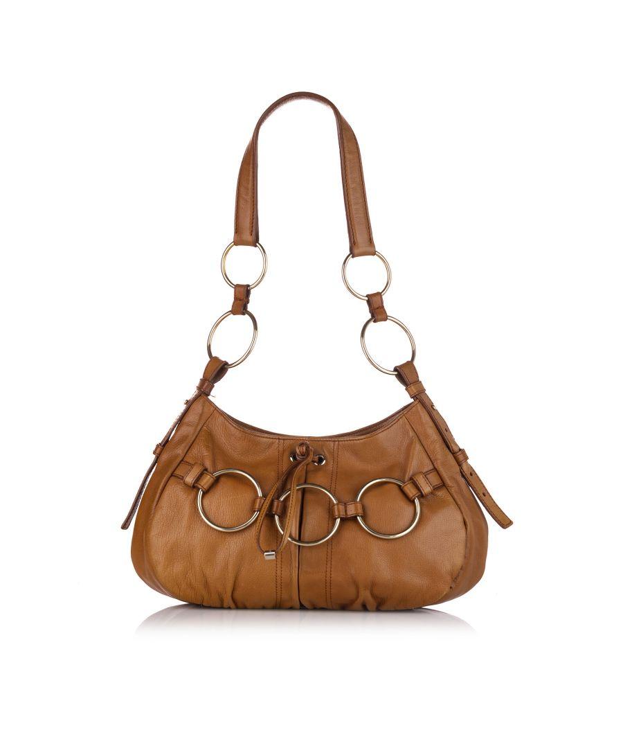 Image for Vintage YSL Leather Shoulder Bag Brown