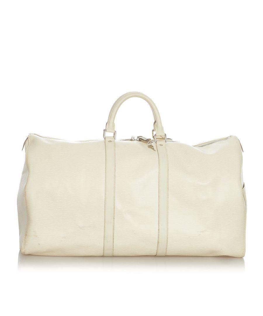 Image for Vintage Louis Vuitton Epi Keepall 55 White