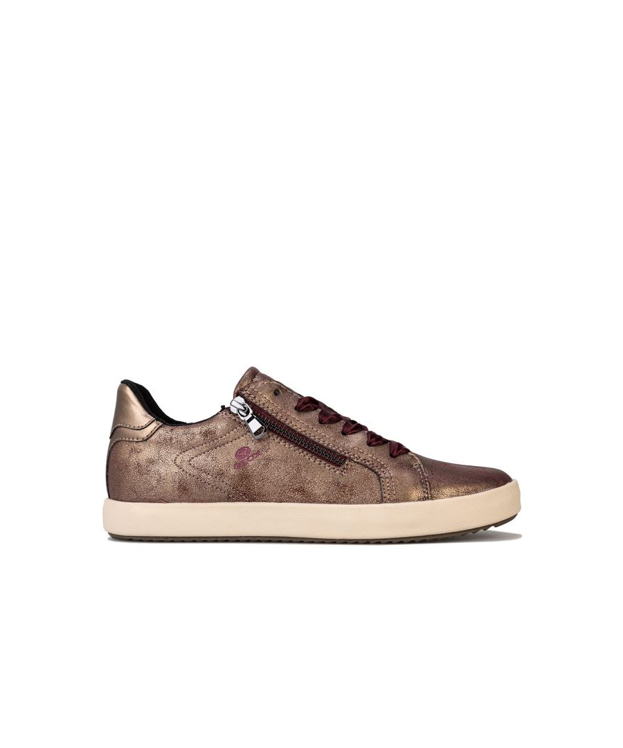 Image for Women's Geox Blomiee Trainers in Burgundy