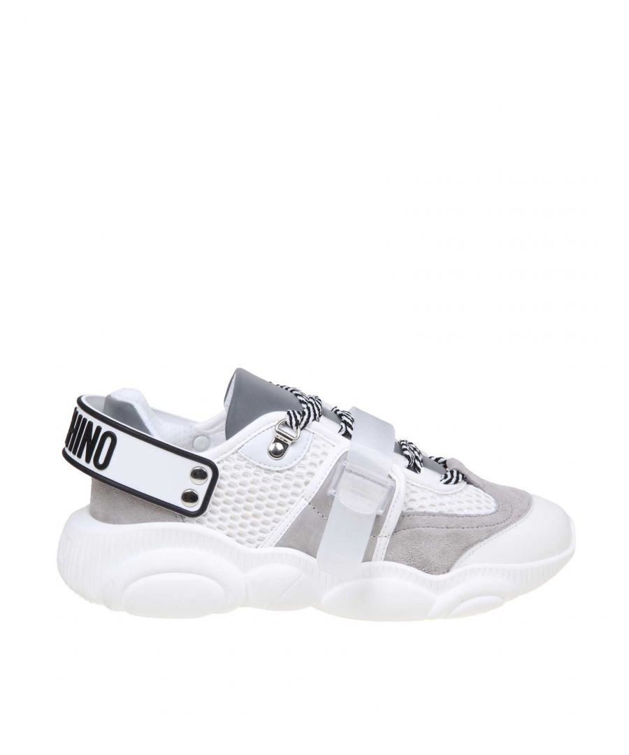 Image for MOSCHINO WOMEN'S MA15133G1AMS210A WHITE POLYESTER SNEAKERS