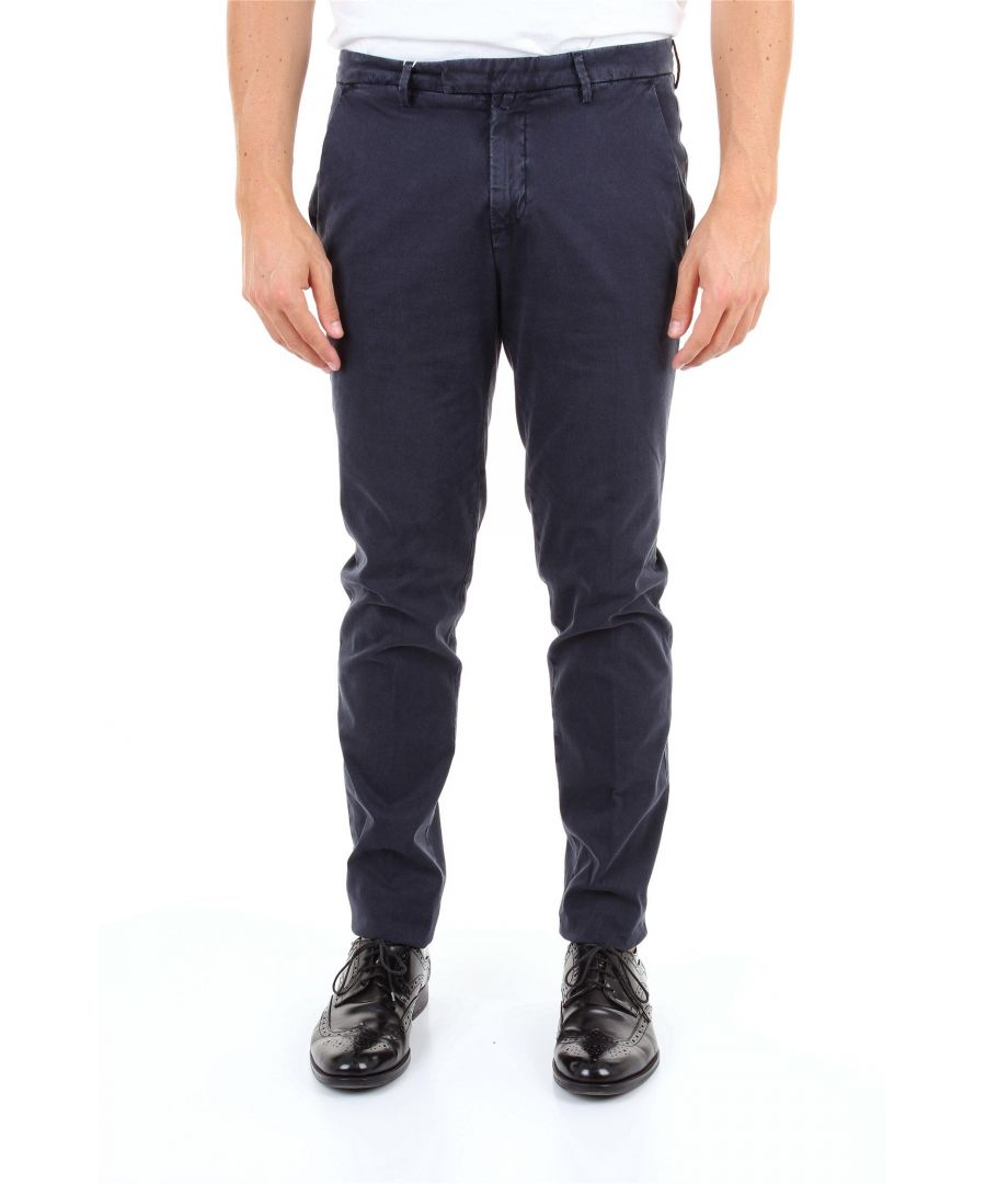 Image for BRIGLIA 1949 MEN'S BG0339511BLU BLUE COTTON PANTS