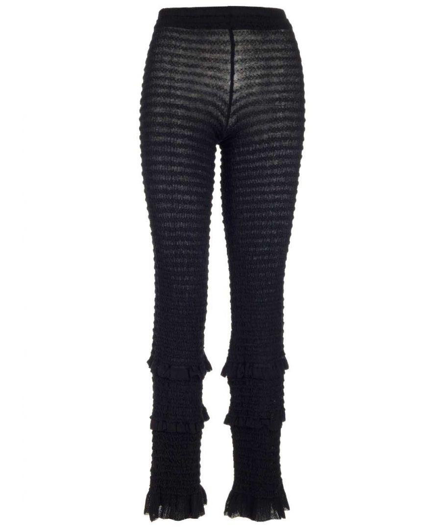Image for ACNE STUDIOS WOMEN'S AK0232BLACK BLACK COTTON LEGGINGS