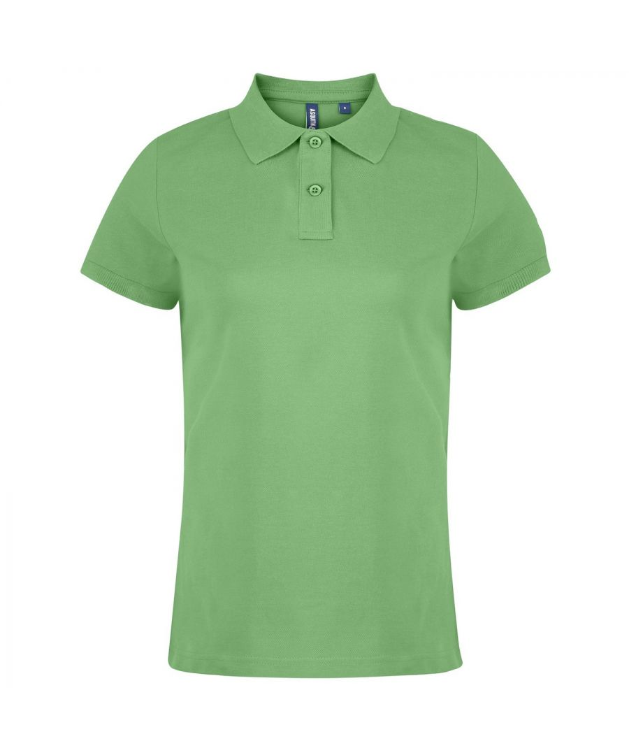 Image for Asquith & Fox Womens/Ladies Plain Short Sleeve Polo Shirt (Lime)
