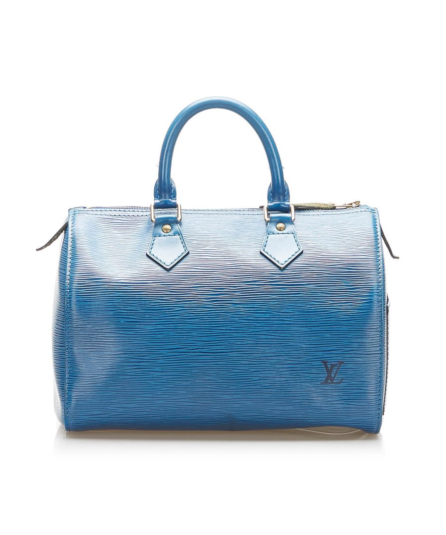 Image for Vintage Louis Vuitton Epi Speedy 25 Blue