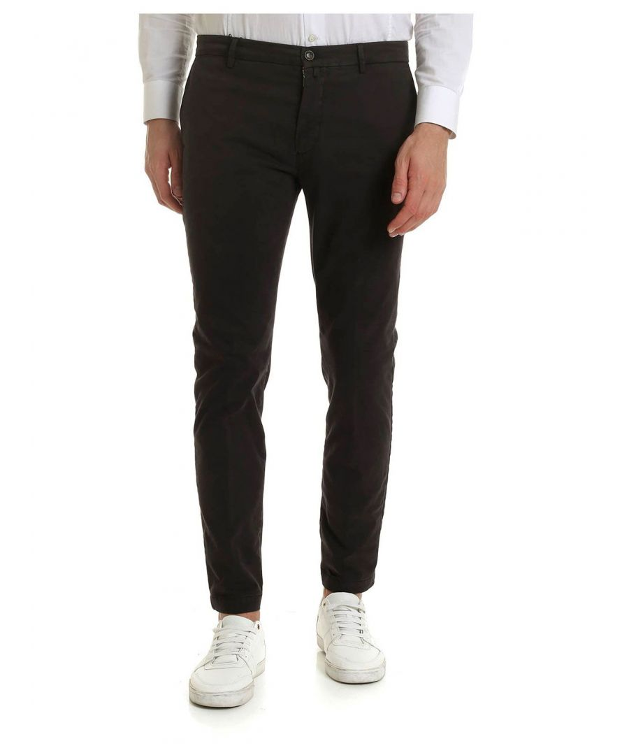 Image for BRIGLIA 1949 MEN'S BG04490956 BLACK COTTON PANTS