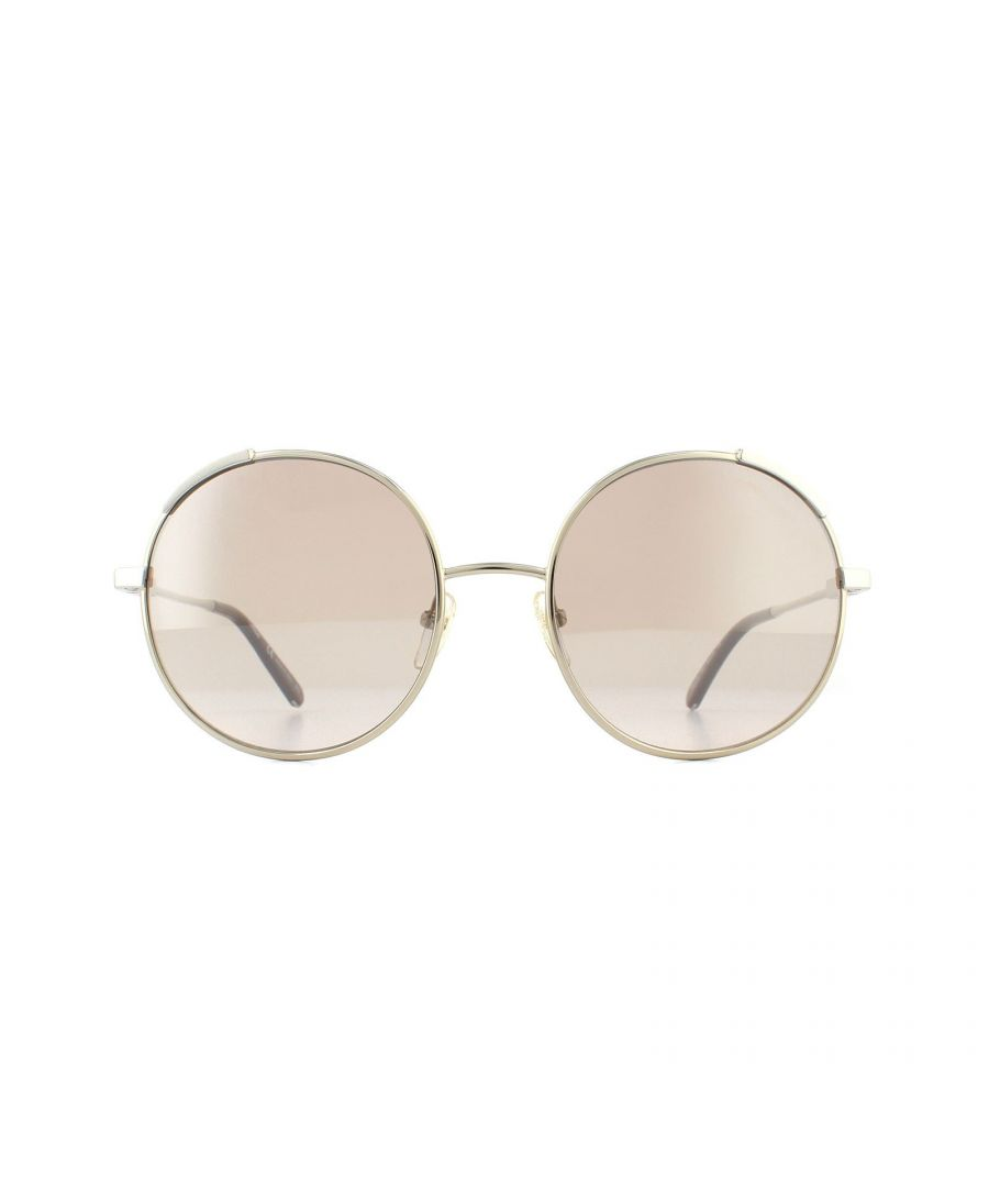Image for Chloe Sunglasses CE117S 743 Gold and Brown Peach Gradient with Silver Mirror