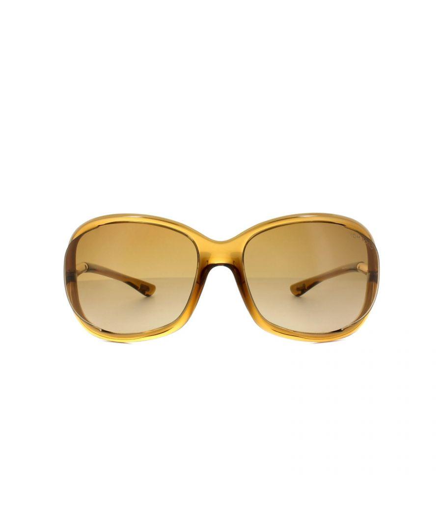 Image for Tom Ford Sunglasses 0008 Jennifer 602 Transparent Brown Brown Gradient