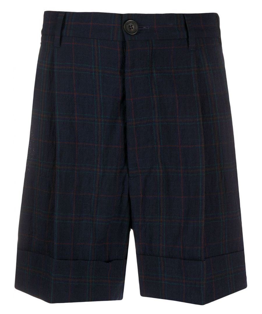 Image for VIVIENNE WESTWOOD MEN'S S25MU0083S52665001F BLUE WOOL SHORTS