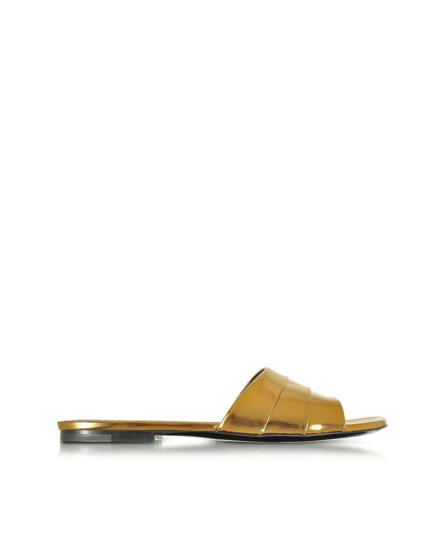 Image for JIL SANDER WOMEN'S JS2820005202B021 GOLD LEATHER SANDALS