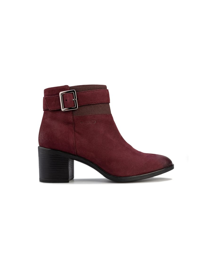 Image for Women's Geox New Asheel Ankle Boots in Burgundy