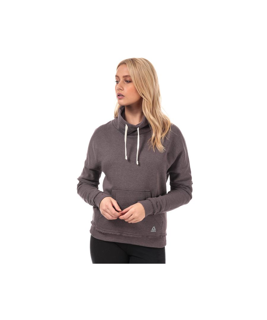 Image for Women's Reebok TE Marble Funnel Neck Sweatshirt in Grey