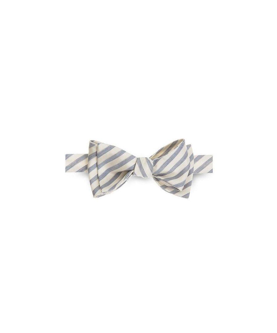 Image for Men's Hackett Soft Stripe Bowtie in Blue
