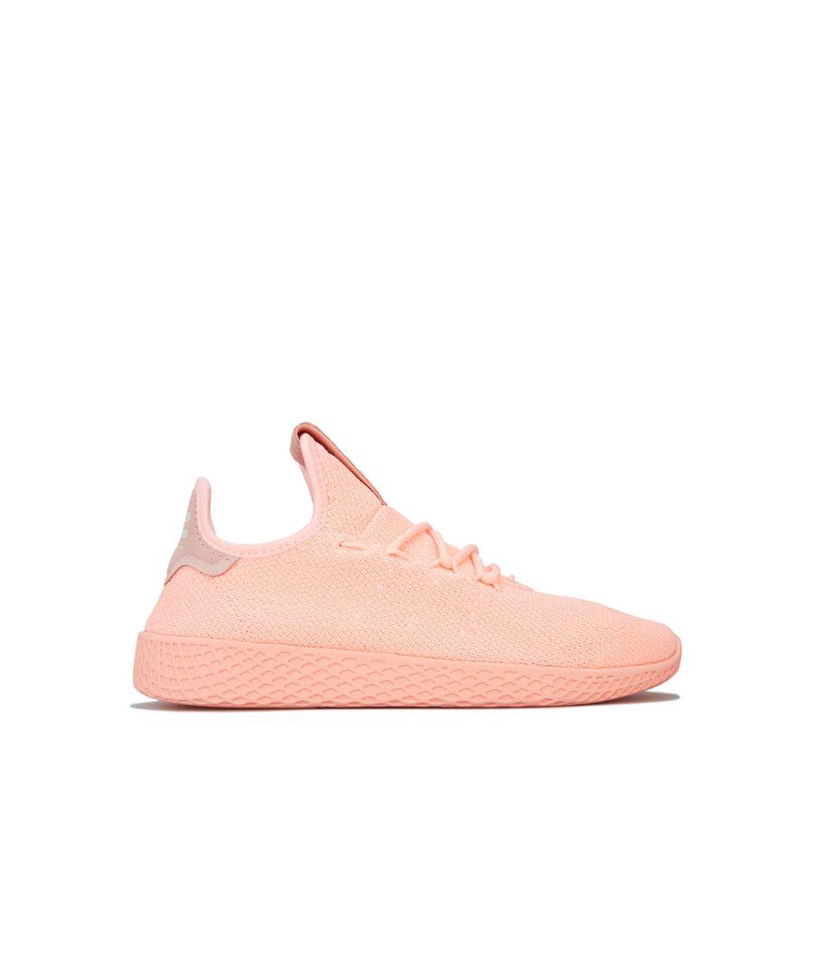 Image for Women's adidas Originals Pharrell Williams Tennis Hu Trainers in Peach