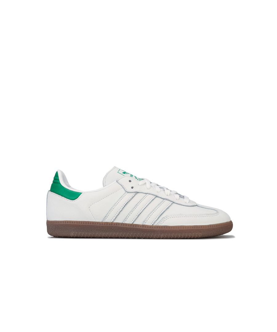 Image for Men's adidas Originals Samba OG Trainers in White Green