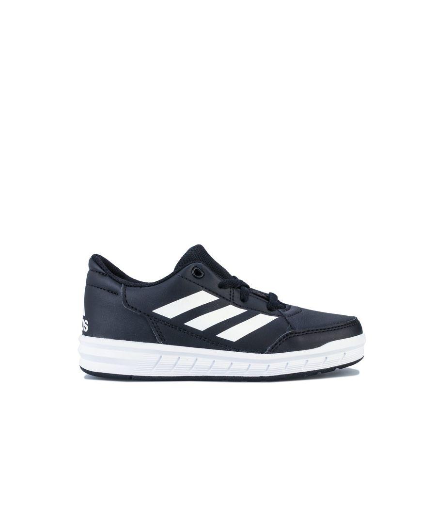 Image for Boy's adidas Children AltaSport Trainers in Black-White