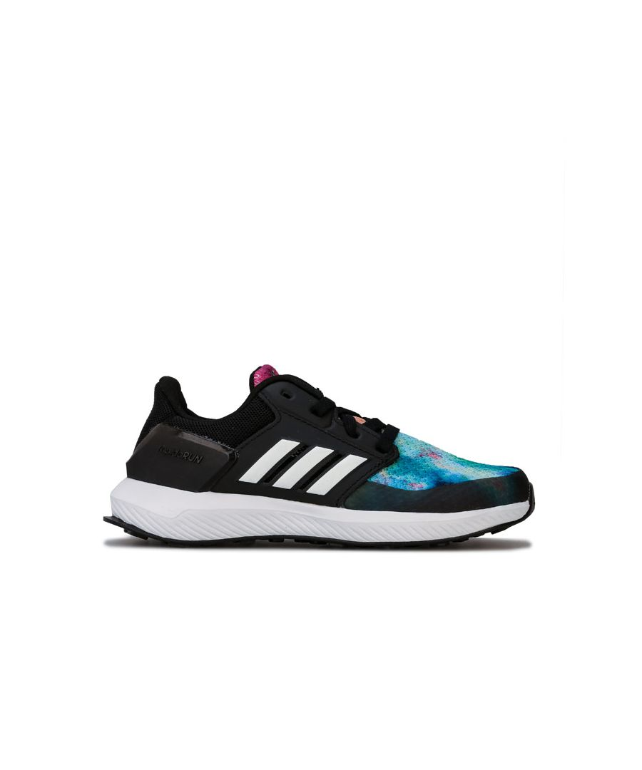 Image for Girl's adidas Junior RapidaRun X Trainers in Black-White