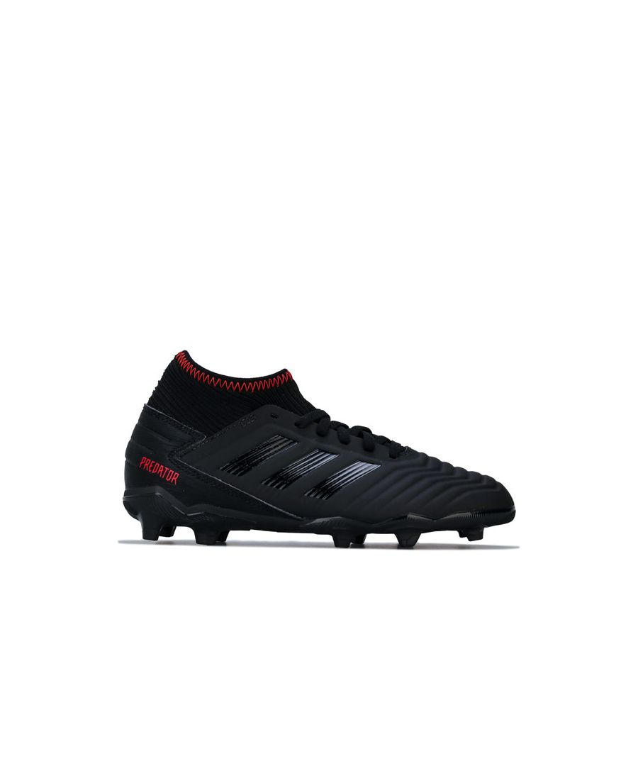 Image for Boy's adidas Children Predator 19.3 FG Football Boots in Black