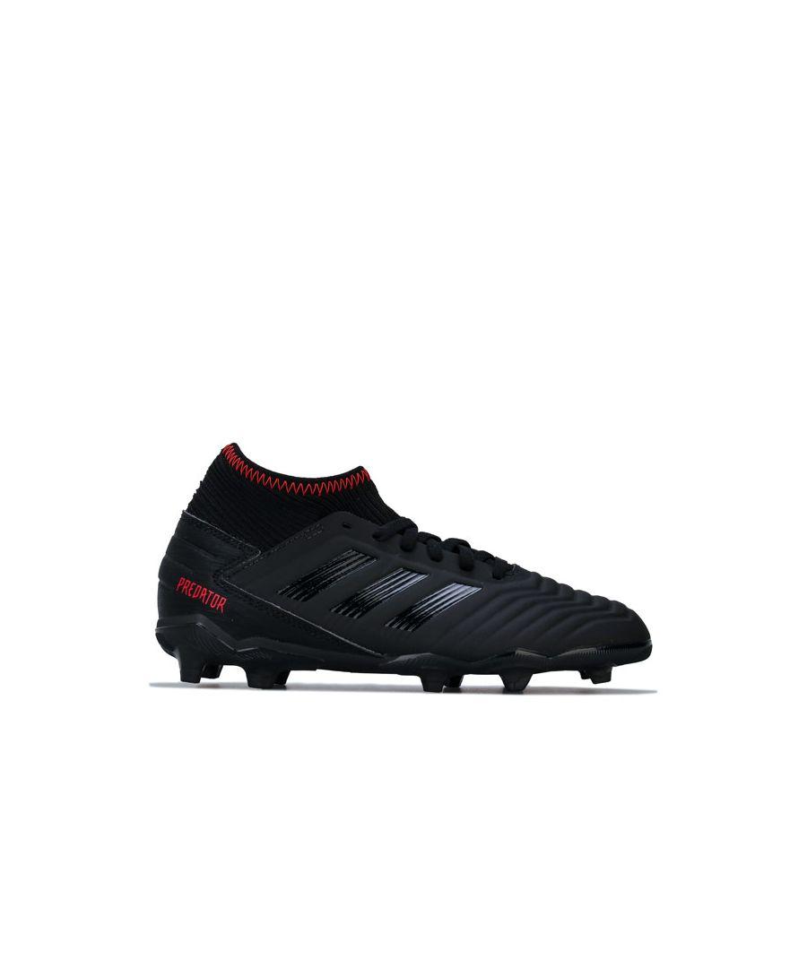 Image for Boy's adidas Junior Predator 19.3 FG Football Boots in Black