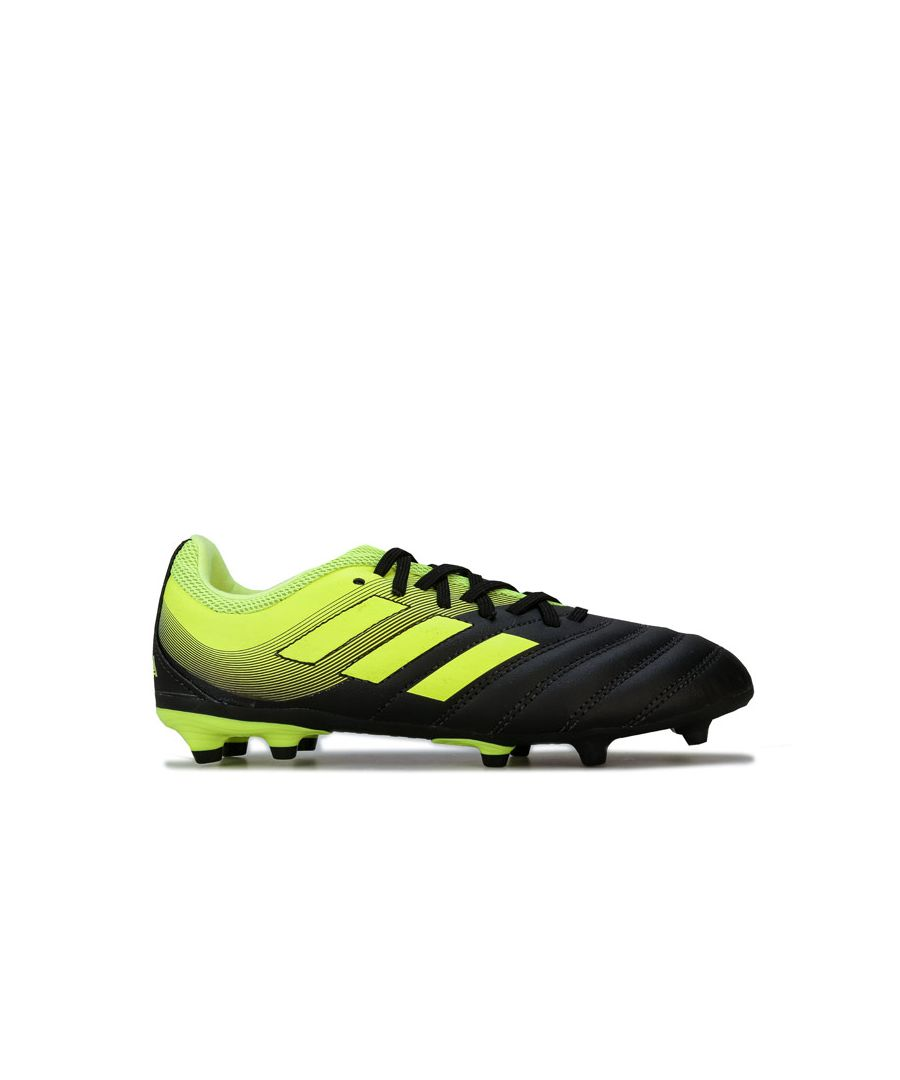 Image for Boy's adidas Children Copa 19.3 FG Football Boots in Black yellow