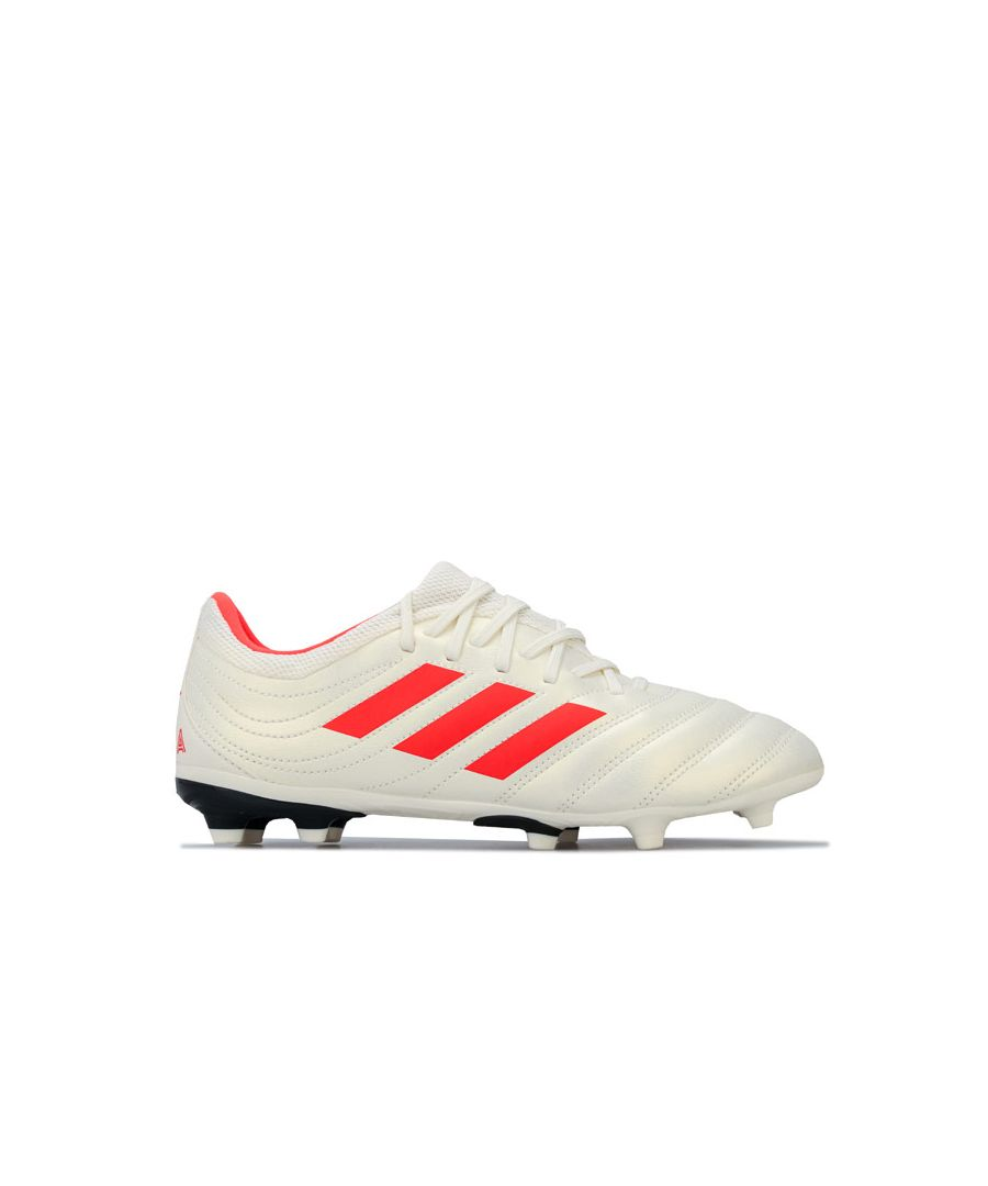 Image for Boy's adidas Junior Copa 19.3 FG Football Boots in White