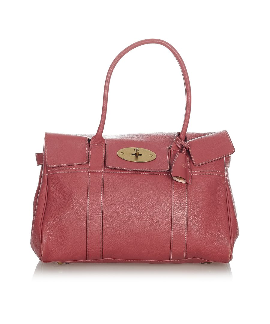 Image for Vintage Mulberry Bayswater Leather Handbag Red