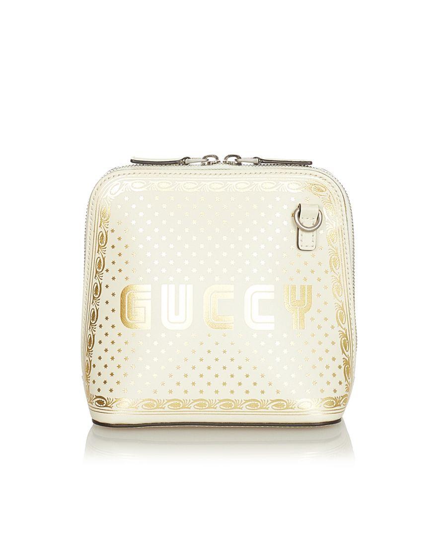 Image for Vintage Gucci Mini Guccy Sega Crossbody Bag White