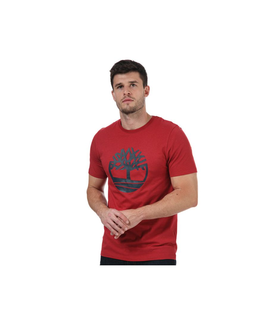 Image for Men's Timberland Tree Logo T-Shirt in Red