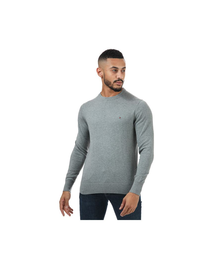 Image for Men's Tommy Hilfiger Pima Cotton Cashmere Jumper in Grey