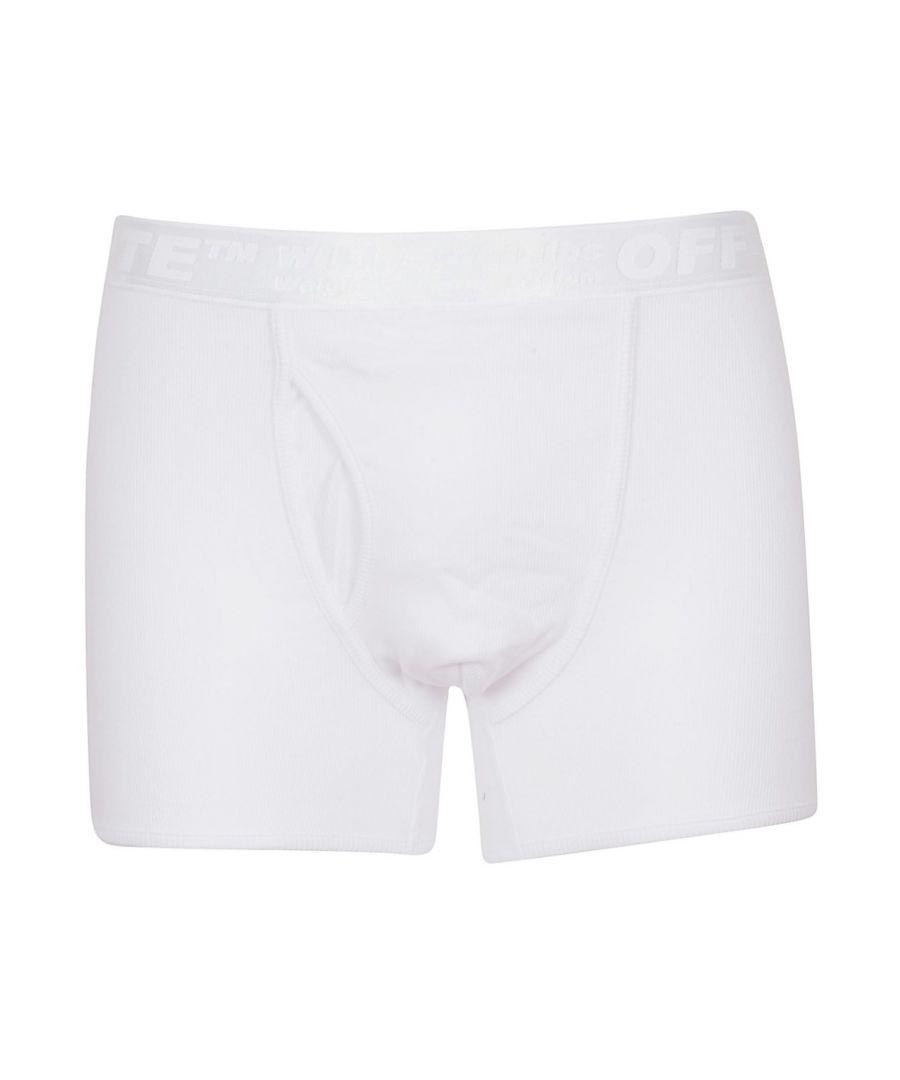 Image for OFF-WHITE MEN'S OMUA001R19C370210100 WHITE COTTON BOXER