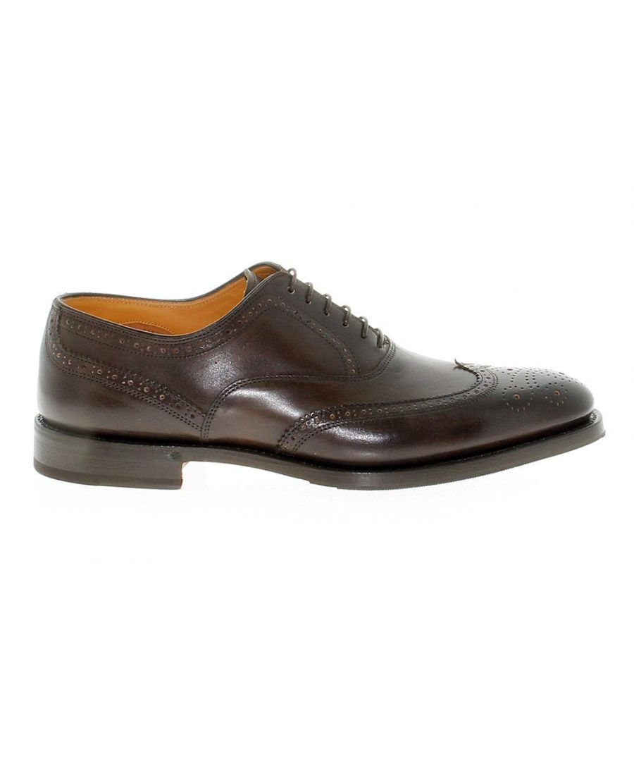 Image for FABI MEN'S FU7061BROWN BROWN LEATHER LACE-UP SHOES