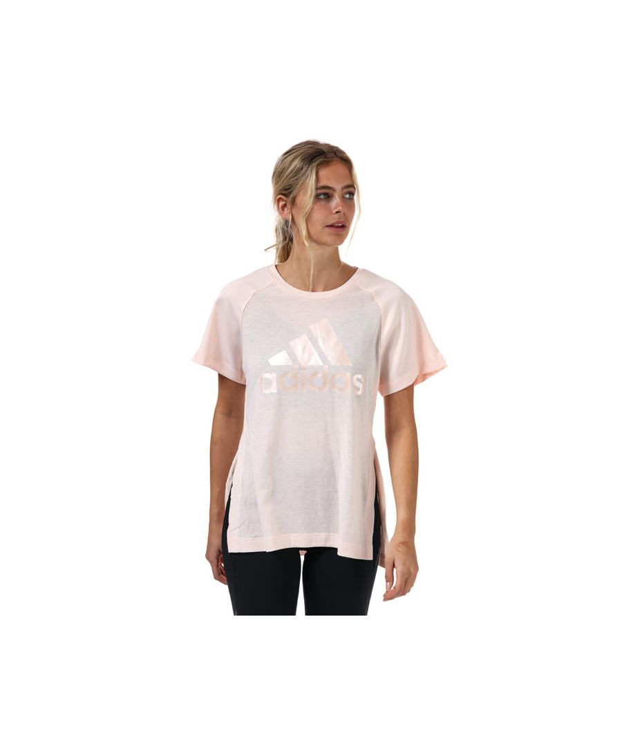 Image for Women's adidas Glam On AEROREADY T-Shirt in Pink
