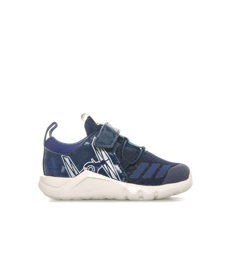 Image for Boy's adidas Infant StarWars RapidaFlex Trainers in Navy