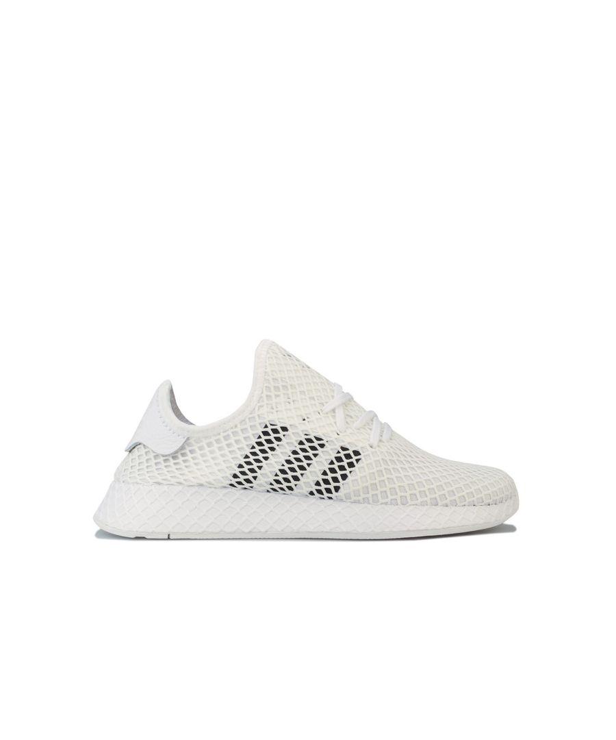 Image for Men's adidas Originals Deerupt Runner Trainers in White