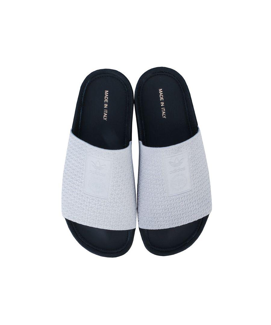 Image for Women's adidas Originals Adilette Luxe Slide Sandals in Light Grey