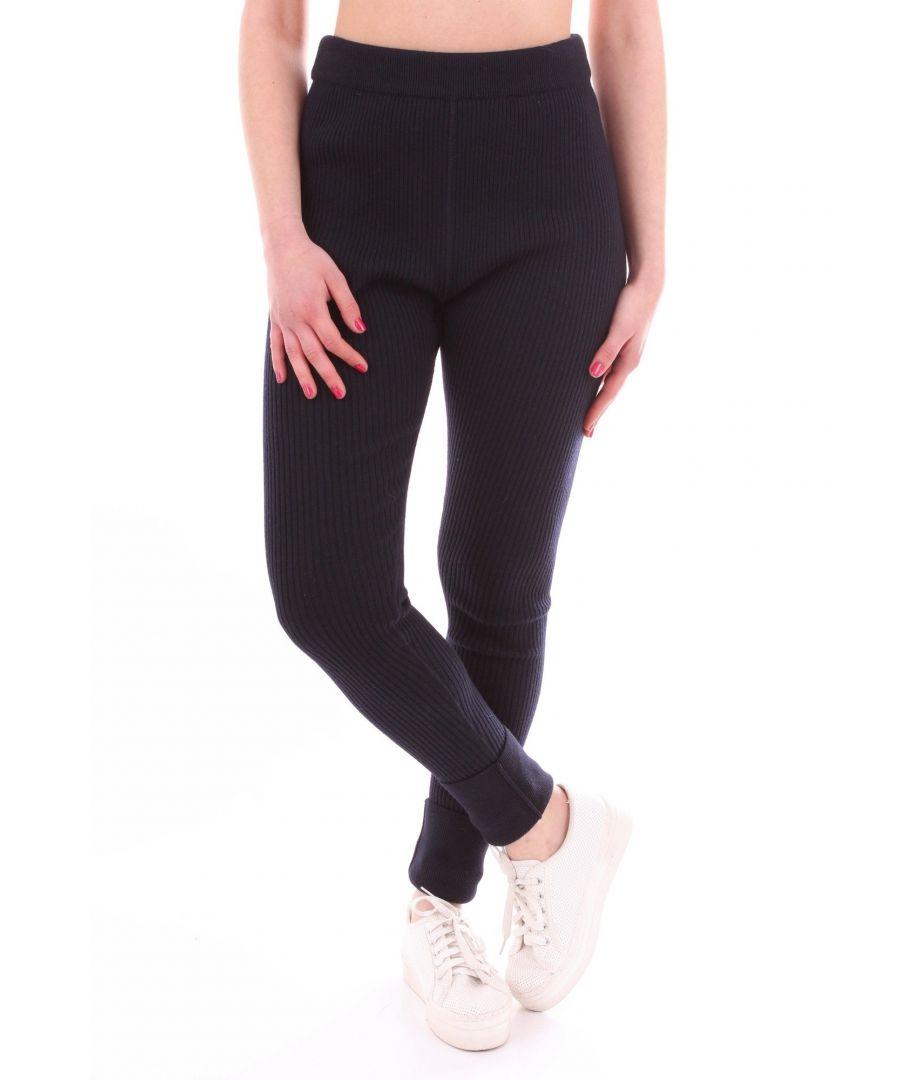Image for JIL SANDER WOMEN'S JSWN701320WN207508BLU BLUE OTHER MATERIALS PANTS