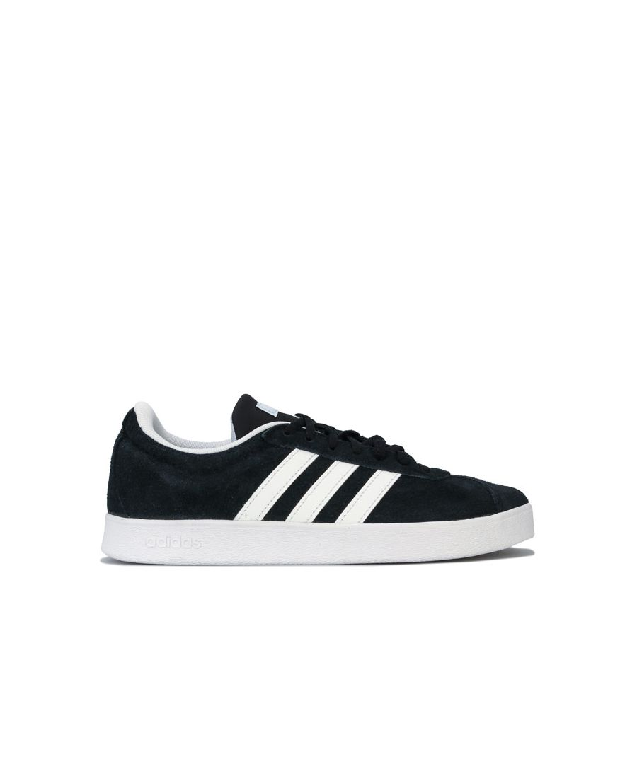 Image for Women's adidas VL Court 2.0 Trainers in Black-White