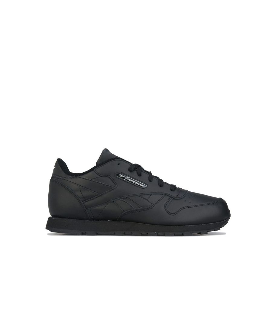 Image for Boys' Reebok Classics Junior Classic Leather Trainers in Black