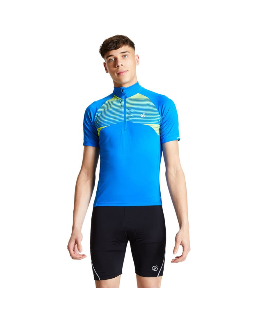 Image for Dare 2b Mens Stay The Course Wicking Half Zip Cycling Shirt
