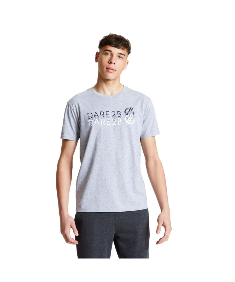 Image for Dare 2b Mens Focalize Cotton Casual Logo T Shirt Tee