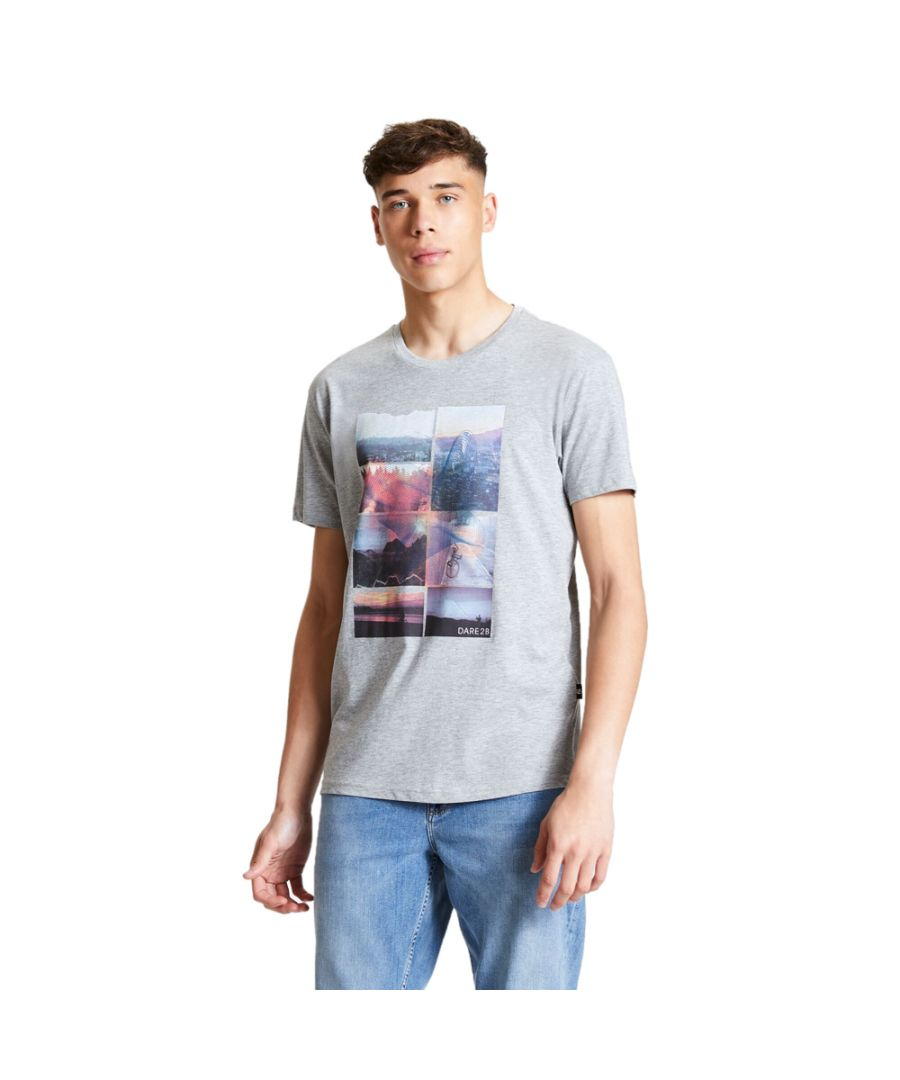 Image for Dare 2b Mens Token Cotton Casual Graphic T Shirt Tee